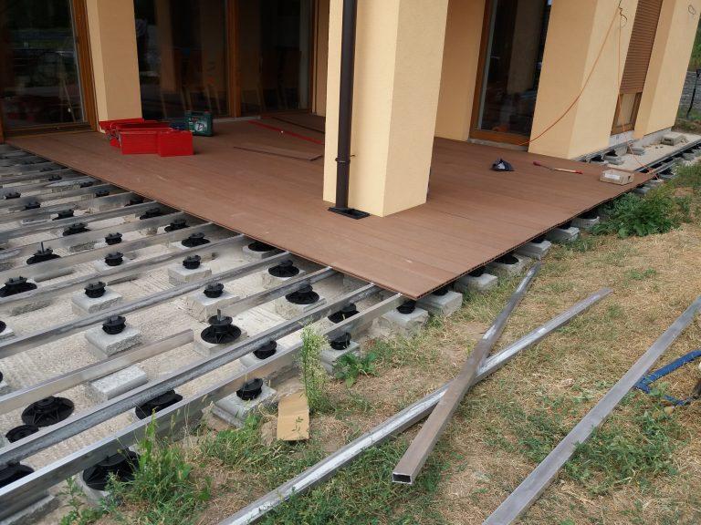 Terasa WPC hliníková konštrukcia